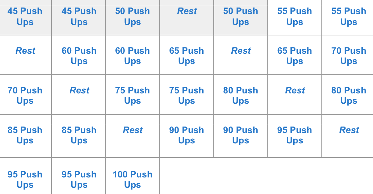 One Month Push-Up Challenge