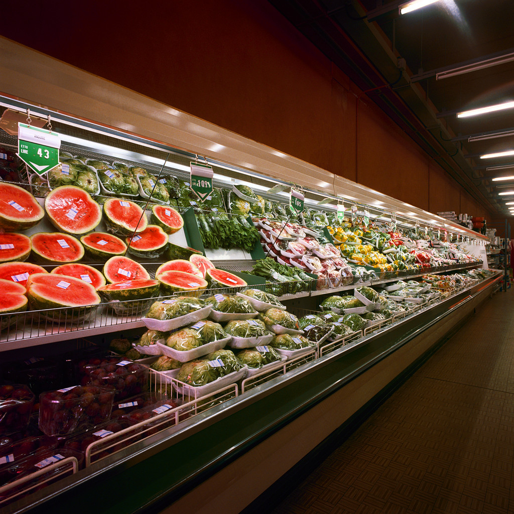 Fruits and Vegetables in Grocery Store