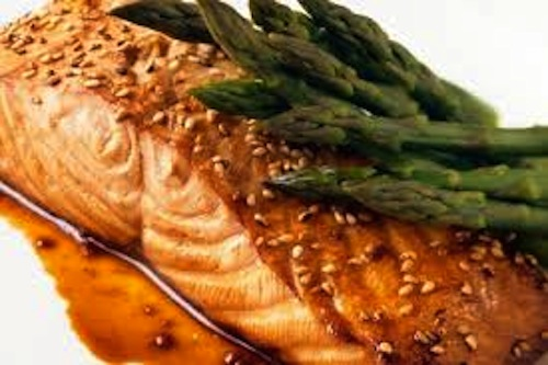 salmon with sesame