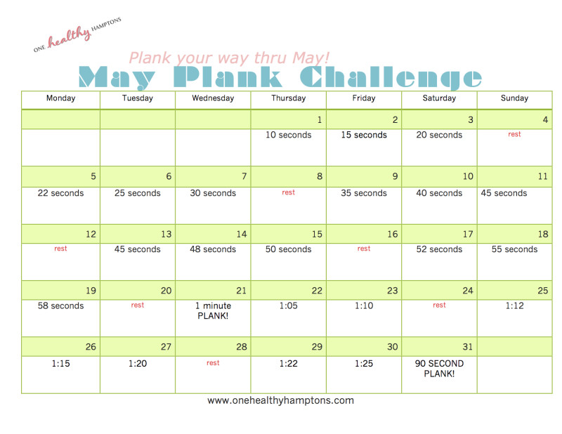 May Plank Challenge